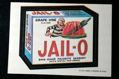 1973 1st Series 1 Topps Wacky Packages Jail-O White Back Sticker Card