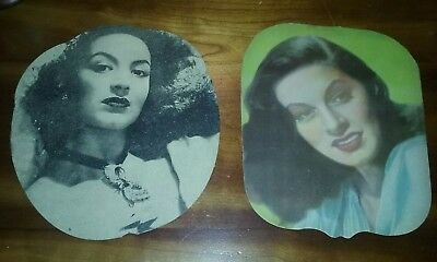 (2) Antique Advertising Fans / Hollywood Actresses