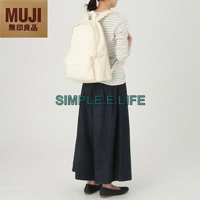 23033fd47 Muji 100% Unbleached Organic Cotton Water Resistant Backpack With Laptop  Pocket
