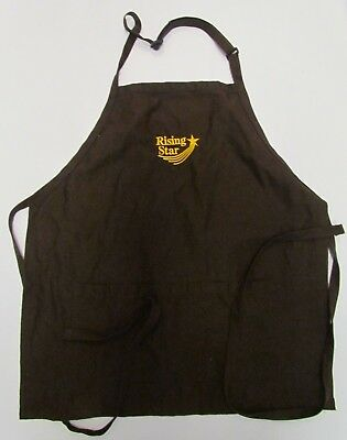Rising Star Cracker Barrel Apron Brown One Size Employee