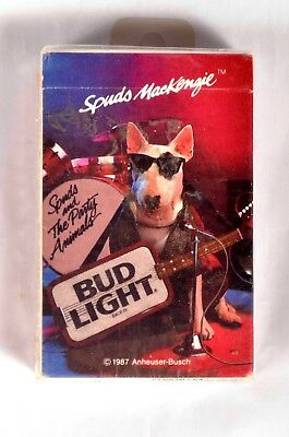 Sealed Bud Light Spuds MacKenzie playing cards