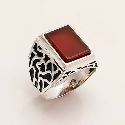 Antique Old Istanbul Redonyx Ottoman Men's Biker's Ring Sterling Silver Jewelry