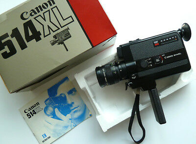 One Owner ~ CANON 514XL SUPER 8 MOVIE CAMERA in ORIG. BOX ~ MINT ~ WORKS