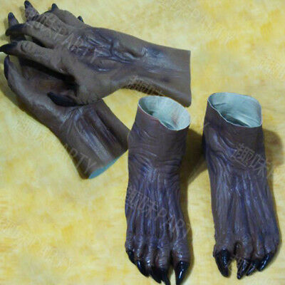 Monster Hands Claws Gloves Latex Halloween Fancy Dress Adult Costume