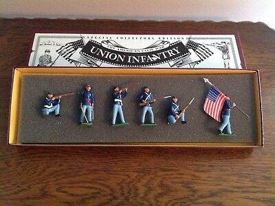 Vintage Britains Toy Soldiers- Union Infantry The American Civil War in Box