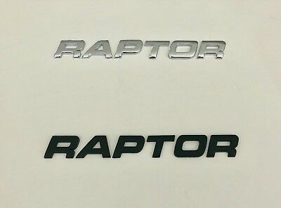 RAPTOR Black/chrome 3D Emblem Badge Letter Car Truck Hood Trunk Door