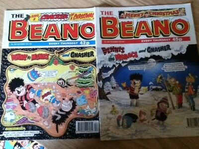BEANO Christmas issues 1996 & 1997