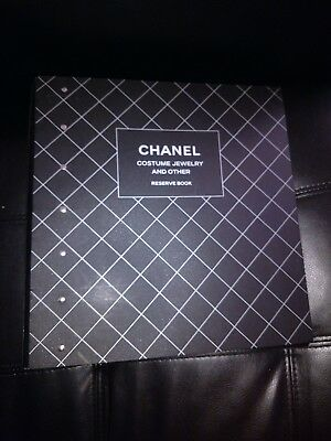 Chanel Employee Boutique Store Acrylic Lucite Binder Reserve Book