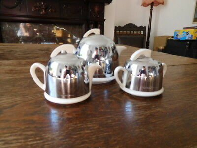 Vintage Retro 1950s One-Cup Insulated Tea Set