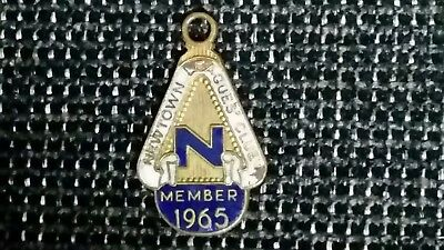1965 Newtown Rugby League Nswrl Member Tag/ Medallion / Badge