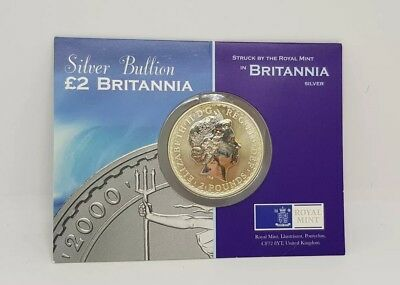 Britannia silver two pounds from 2000