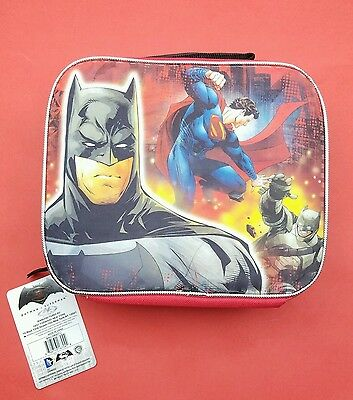 f441422b01e DC Comincs Batman vs Superman Dawn of Justice Insulated Soft Lunch Bag  School A+