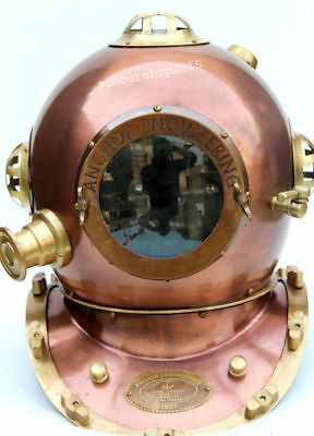 "Divers Helmet Iron Us Navy Deep Water Diving 18"" Replica Helmet Christmas Gift"