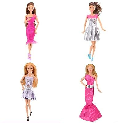 New Barbie doll random outfits clothes dress x3  Aussie seller fast postage