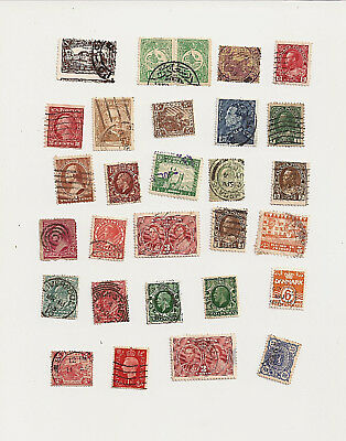 Vintage & Antique Postage Stamps Mixed Lot Of 29 Stamps Lot C2