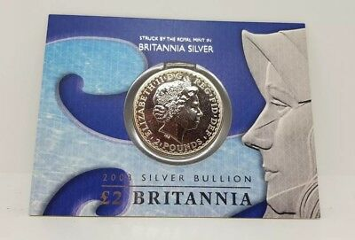 Britannia silver two pounds from 2003
