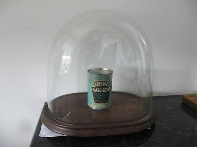 Antique Glass Dome on Wooden Base Suitable for Clock or Taxidermy