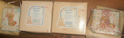 2 New Enesco Cherished Teddies Small Resin Plaque Bundle