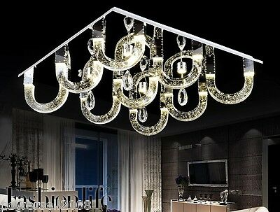 Modern Simplicity Style LED Lenght 75CM Stainless Steel+K9 Crystal Ceiling Light