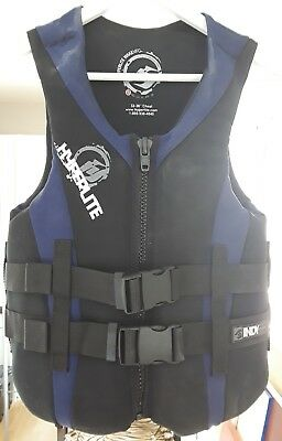 "Hyperlite Indy Series Men's Life Jacket, Size S 32-36"", blue and black"