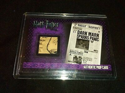 Harry Potter Deathly Hollows P1 Daily Prophet Prop Card