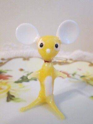 Vintage Blown Glass Small Mouse Figurine