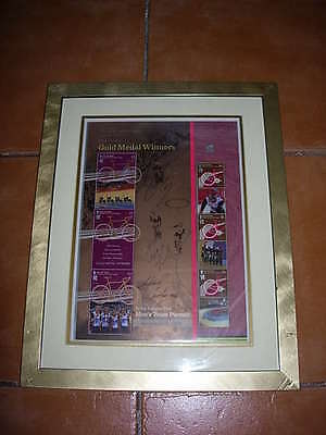 gold medal winners,london 2012sheet,mens team pursuit, signed by them with c.o.a