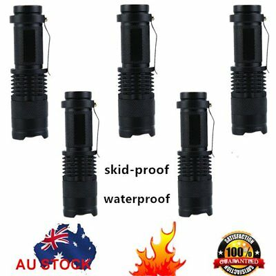 5x Q5 CREE LED Zoomable Focus Bright Flashlight Torch 1200LM Light AA/14500