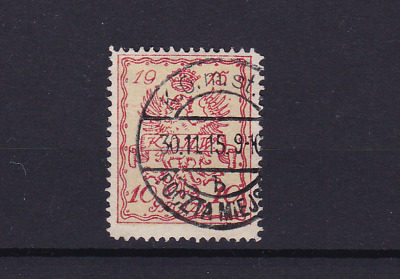 poland warsaw  local post 1915 used stamp  ref r13823