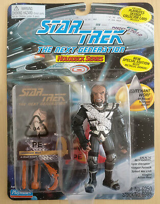 *OVP* STAR TREK TNG Actionfigur Lt. Worf *Special Edition* & orig.Collector Card