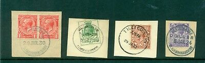 Clackmannanshire rubber & skeleton datestamps 1930s Blairingone Coalsnaughton