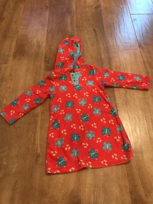 Baby Girl Hooded Swim Cover Up /towelling Dress 18-23m Excellent Condition!