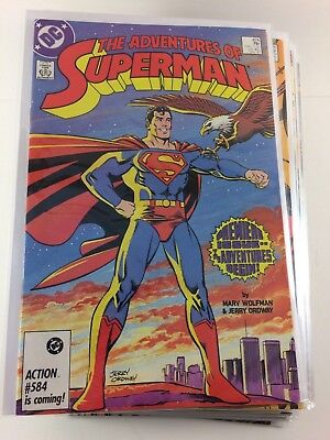 Adventures of Superman #424-452 Unbroken Run 29 Comics NM 1987 Ordway