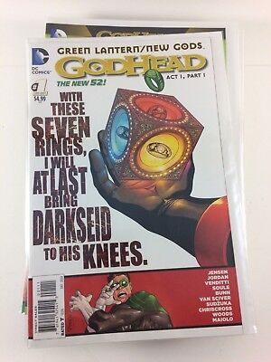 New 52 Green Lantern Godhead Storyline Complete Set Parts 1-17 Comics NM