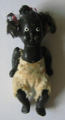 Vintage Black Americana porcelain bisque baby doll Made in Japan