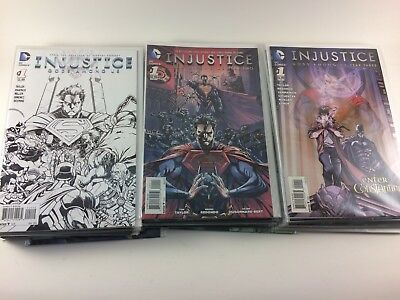 Injustice Gods Among Us Year 1 2 3 Complete Sets #1-12 + Annuals 39 Comics NM
