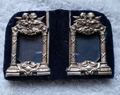 Stunning Solid Silver Cherub Double Picture Frame London 1988