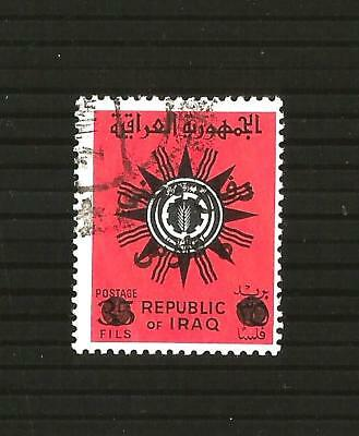 Iraq 1973 Defence Fund opt on 35f red & black used - SG No. T1072