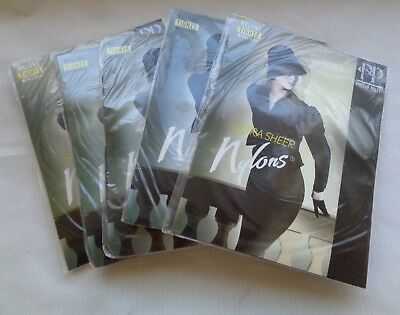 5 pairs pantyhose Pretty Polly new NIP size large