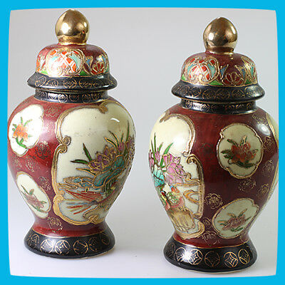 antique Porcelain Pottery China Pair Vase Vases Urn Urns Oriental Asian Chinese