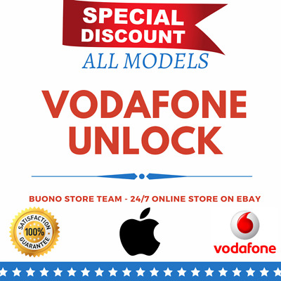 UNLOCK SERVICE FOR IPHONE X / IPHONE 8 PLUS / IPHONE 8 7 6 6s 5 UK VODAFONE IMEI