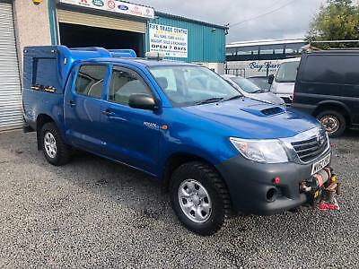 Toyota Hi-Lux 2.5D-4D 4WD HL2 double cab 2012 62 reg 1 company owner from new