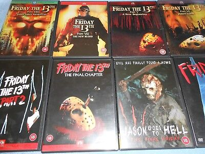 Slasher Horror Movies - FRIDAY THE 13th DVD Collection