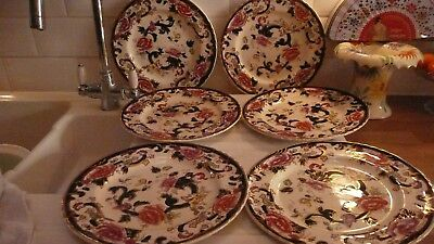 Masons Blue Mandalay,ironstone,6 Dinner Plates,used, But Excellent Condition