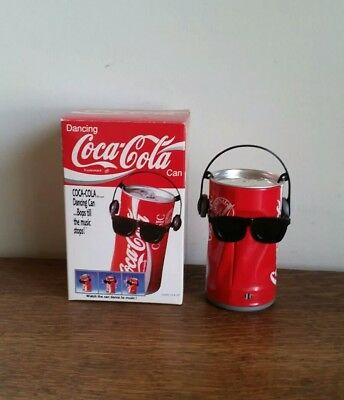 1989 Dancing Coca-Cola Collectible Can Bops Til The Music Stops Coke Can