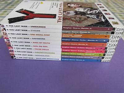 Y The Last Man Brian K Vaughan complete Set 1-10 Graphic Novels TPB Vertigo