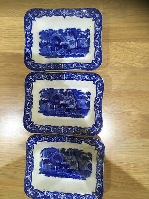 3 Geo Jones Shredded Wheat Dishes - Abbey 1790