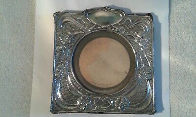 Antique Silver Fronted Photo Frame - 16.5 x 15 cms. In need of repair.
