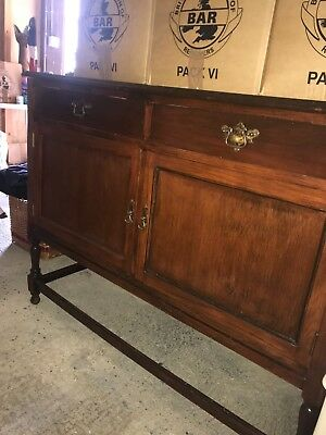 Old Dark Wood Sideboard Buffet