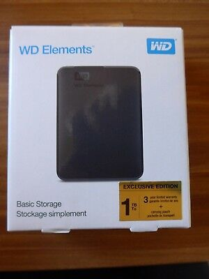 WD Elements, 1 TB HDD, 2.5 Zoll, extern, Schwarz, Exclusive Edition